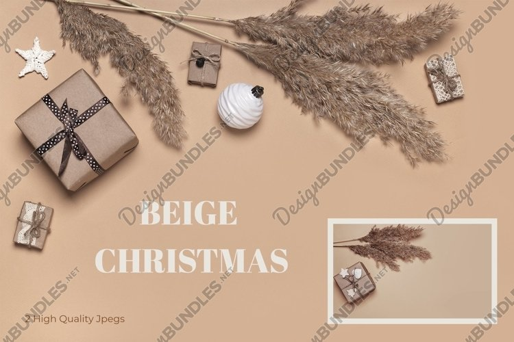 Beige Christmas bundle with reeds and eco gifts