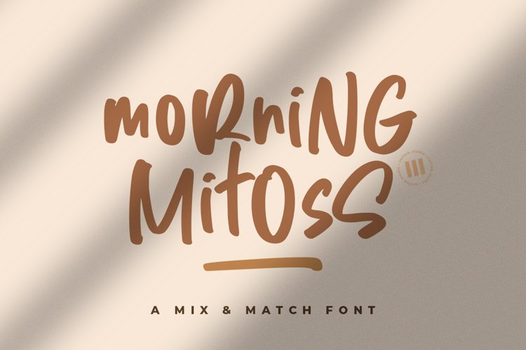 Morning Mitoss - A Mix 'n Match Font example image 1