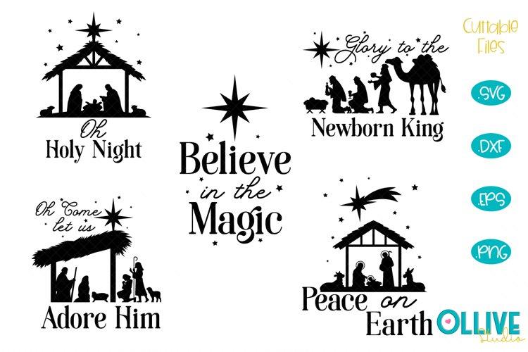 Christmas Nativity Svg Bundle 678020 Cut Files Design Bundles