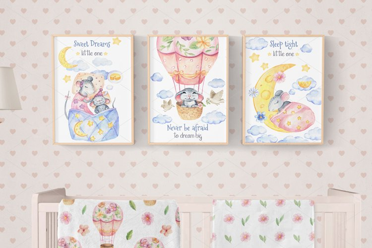 Mice Family - Watercolor Set example 6