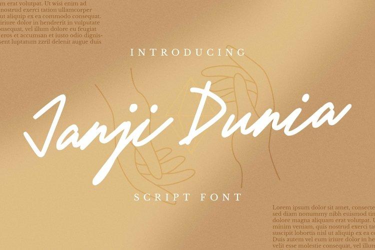 Web Font Janji Dunia Font example image 1