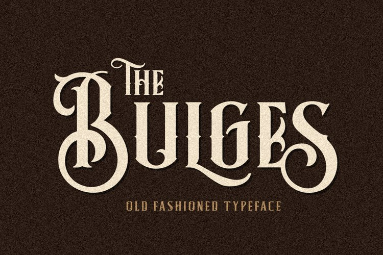 Bulges Typeface example image 1