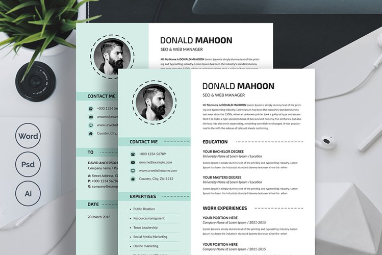 Resume and Cover Letter Template example image 1