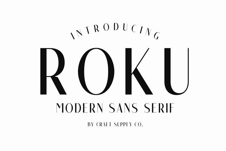 Roku - Modern Sans Serif example image 1