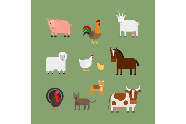 Farm animals vector example image 1