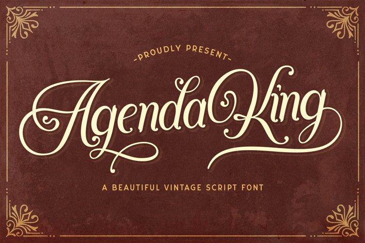 Agenda King - Vintage Script Font example image 1