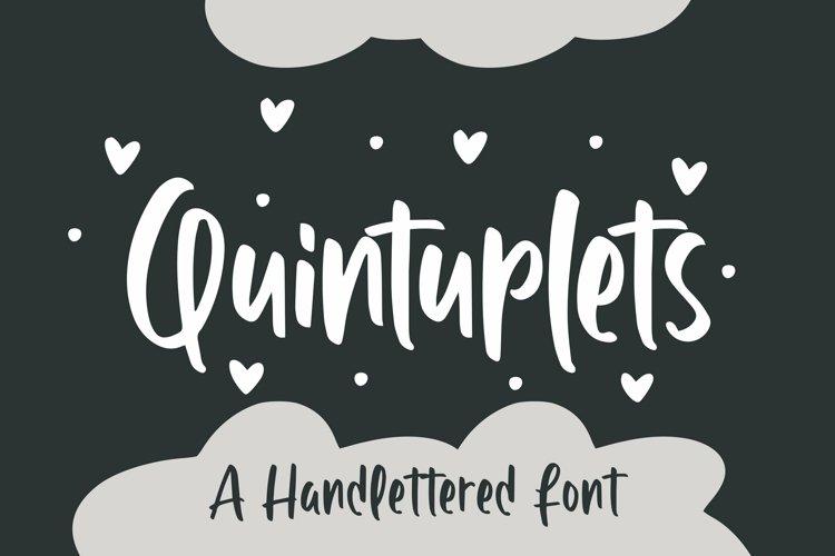 Web Font Quintuplet - Handlettered Font example image 1