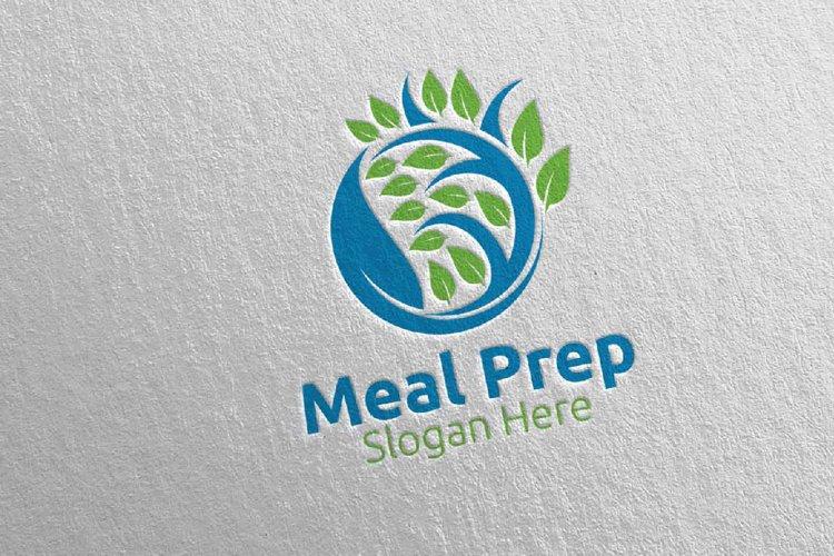 Tree Meal Prep Healthy Food Logo 22 example image 1