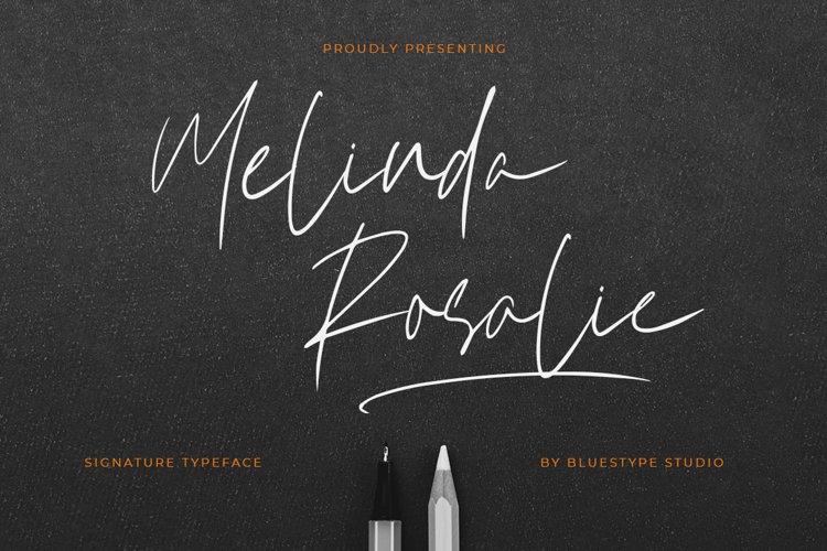 Melinda Rosalie - Signature Handwritten Font example image 1