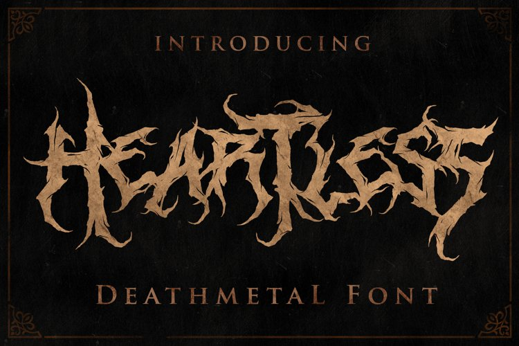 Heartless - Most Wanted Deathmetal Font example image 1