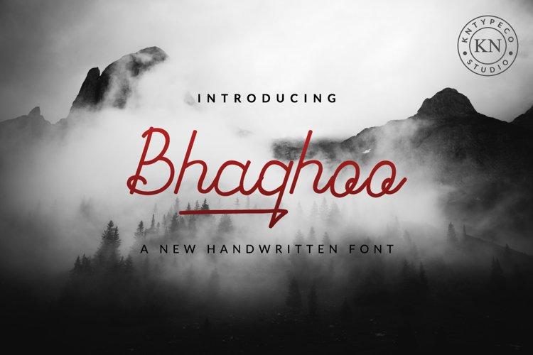 bhaqhoo handwritten example image 1
