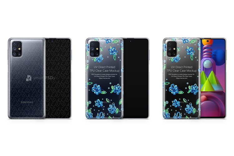 Galaxy M51 2020 TPU Clear Case Mockup example image 1