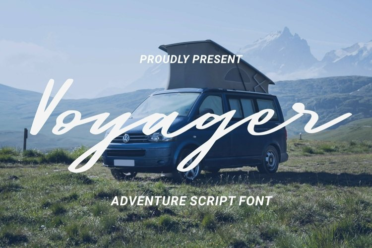Web Font Voyager Font example image 1
