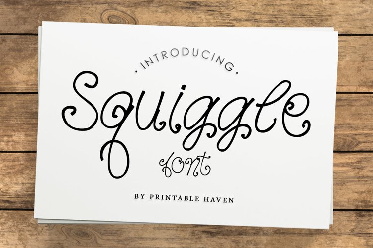 Squiggle Font