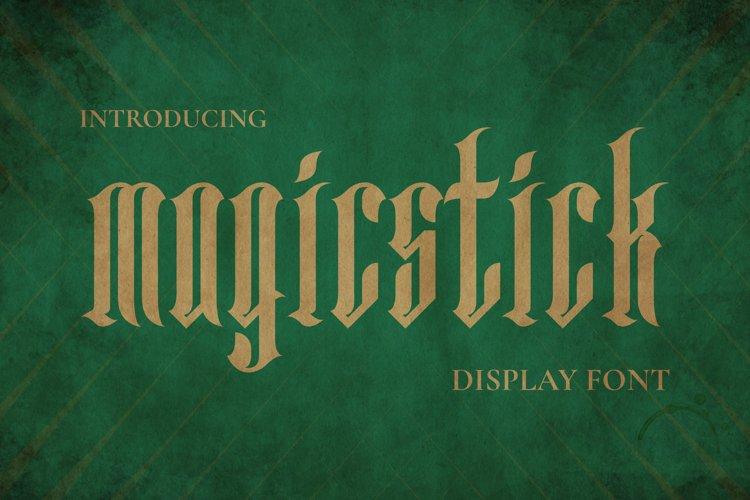 MAGICSTICK Font example image 1