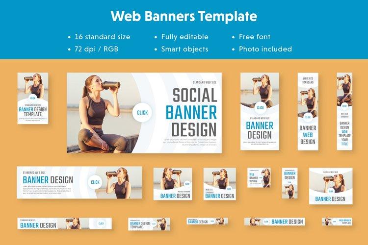Multipurpose Web Banners Sport Template