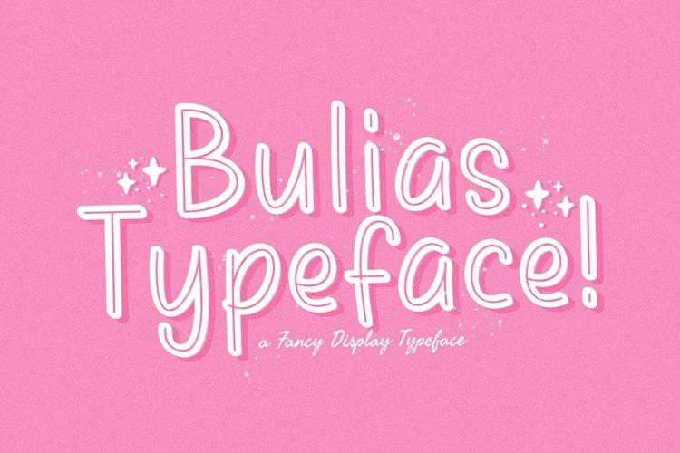 Web Font Bulias example image 1