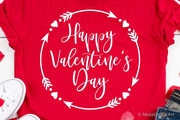 Happy Valentines Day Svg, Kids Valentines Day Svg, Love Sign example image 1