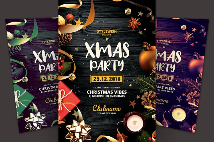 Xmas Party Flyer example image 1
