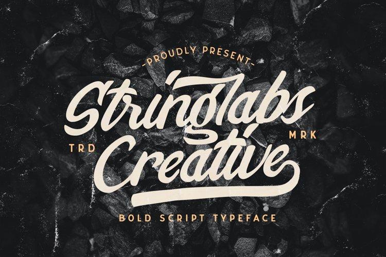 Stringlabs Creative - Bold Script Font example image 1