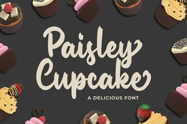 Paisley Cupkace a Delicious Font example image 1