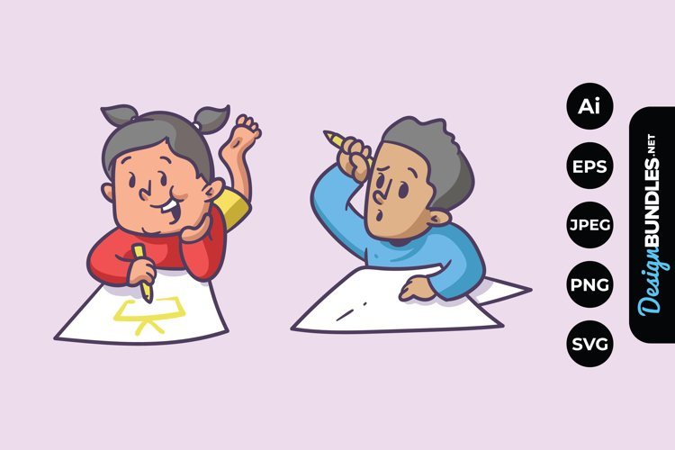 Kids Drawing Clipart example image 1