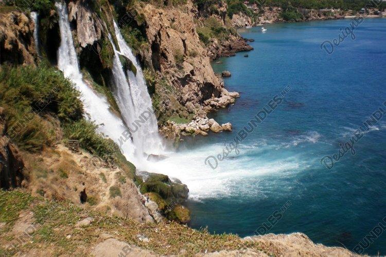 Turkish waterfall Duden in city Antalya example image 1