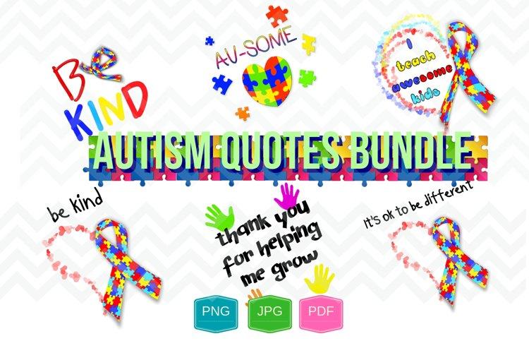 Autism Quotes bundle digital file Printable PNG JPG PDF