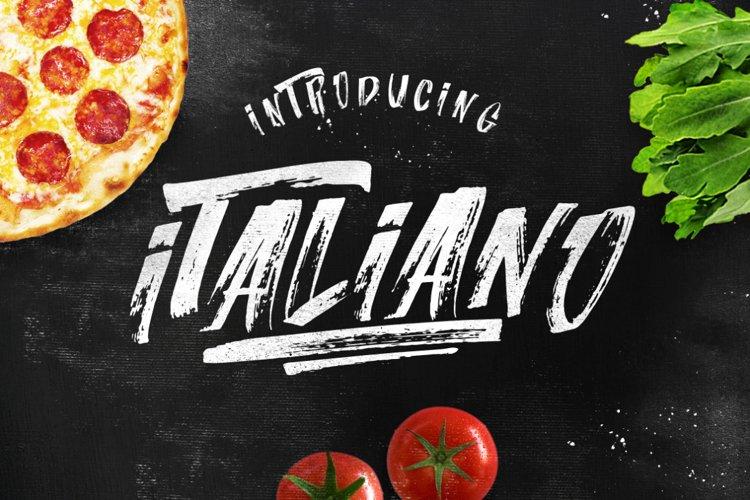 ITALIANO Brush Font +Extras example image 1