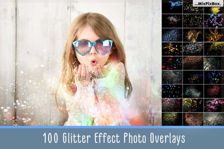 Glitter Effect Photoshop Overlays