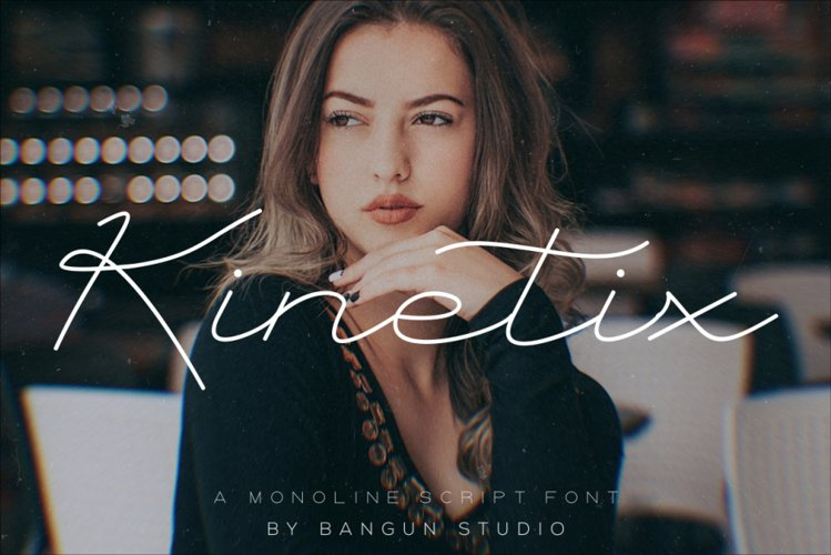 Kinetix - A Monoline Script Font example image 1