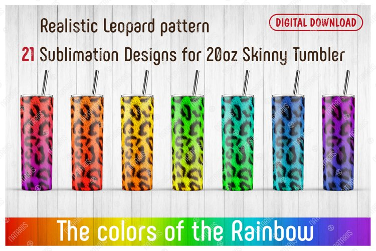 21 Realistic Leopard Patterns for 20oz SKINNY TUMBLER. example image 1