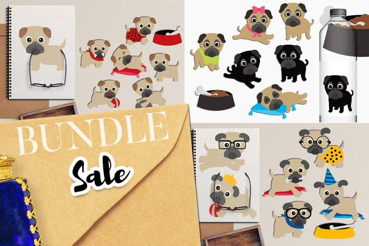 Pug Dog Puppy Graphic Illustrations Bundle