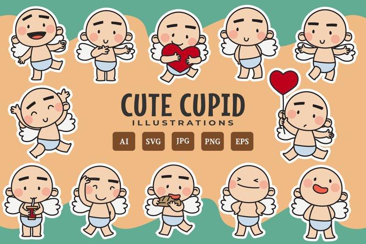 Cute Cupid illustrations example image 1