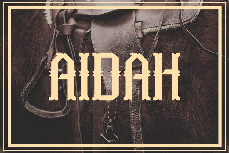 Aidah Typeface example image 1