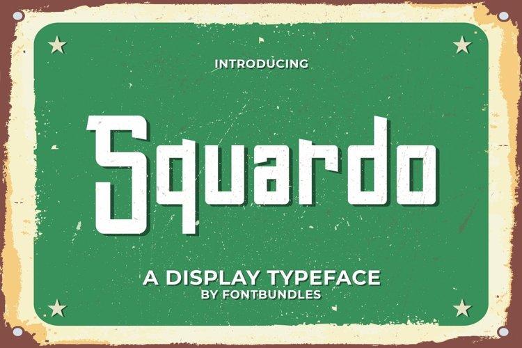 Web Font Squardo example image 1