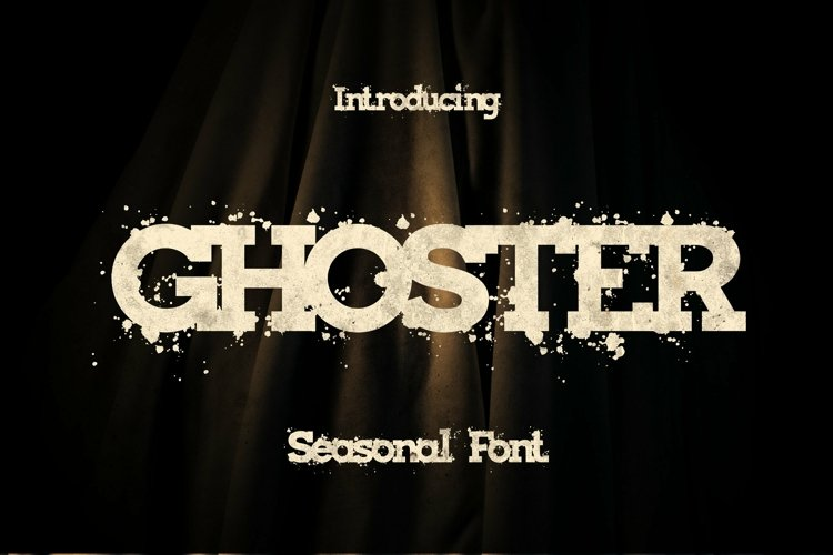 Web Font Ghoster Font example image 1