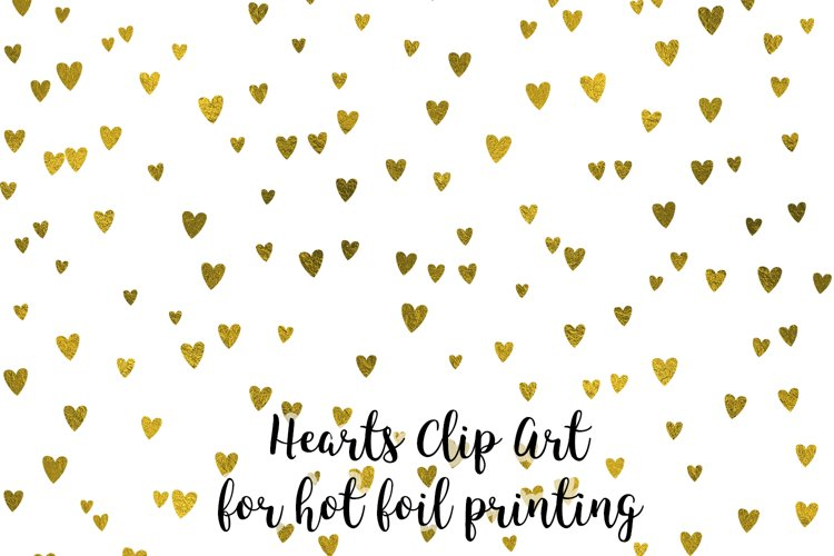 Hearts Clip Art, Snowflakes Clip Art for hot foil printing