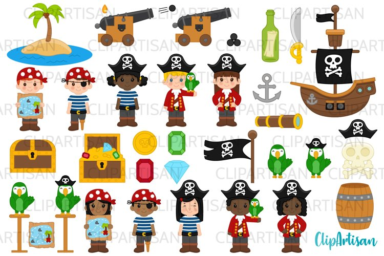 Pirate Clip Art, Pirates, Pirate Ship Treasure Island example image 1