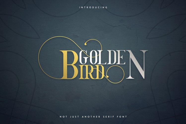 Golden Bird Serif font Cool Extras example image 1