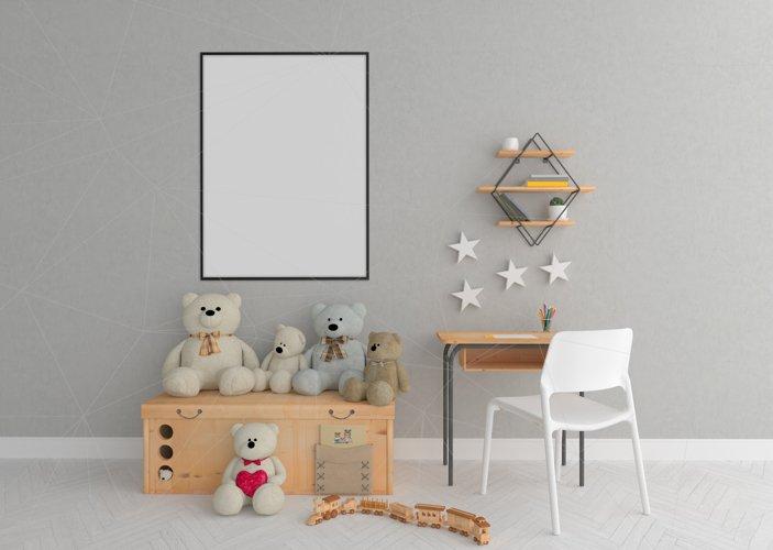 Interior mockup - blank wall mock up - nursery room example image 1