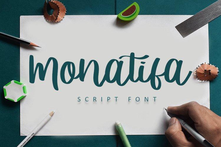 Monatifa | Beautiful Script Font example image 1