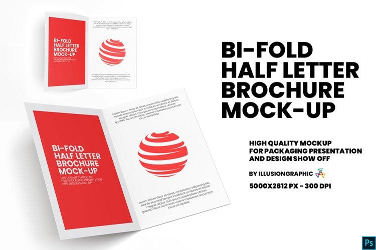 Bi-Fold Half Letter Brochure Mock-up example image 1