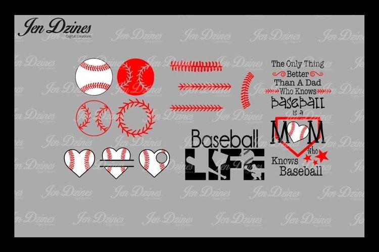 Baseball Bundle SCG DXF EPS PNG example image 1