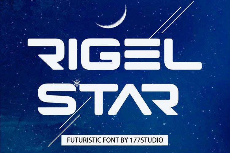 Rigel Star Futuristic Font example image 1