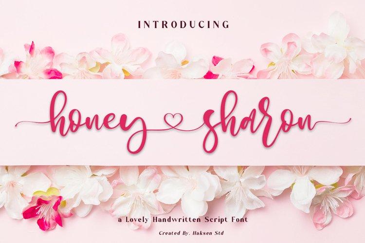 Honey Sharon Lovely Handwritten Script example image 1
