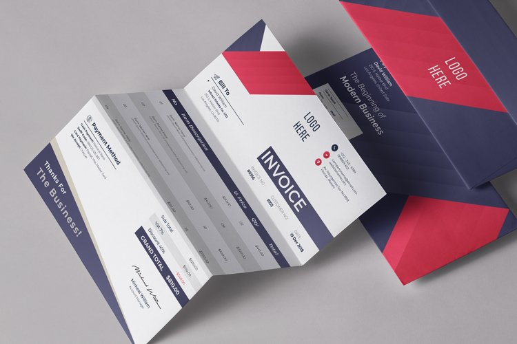 Modern Editable Invoice Template Design