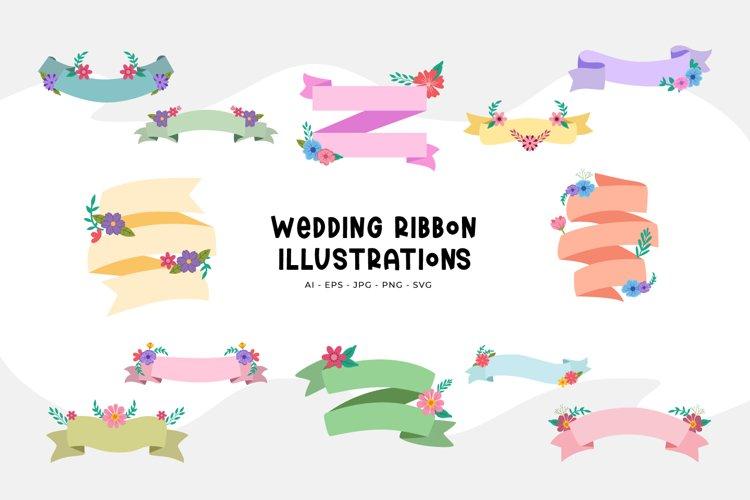 Wedding Ribbon Illustrations
