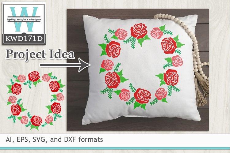 Valentines SVG - Floral Wreath
