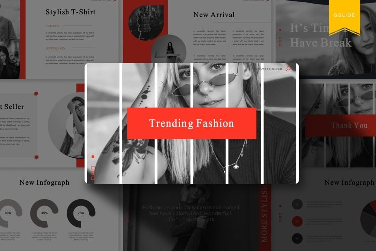 Trending Fashion | Google Slides Template example image 1